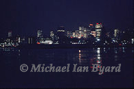Manhattan Skyline at Night, 21st february, 2002.
