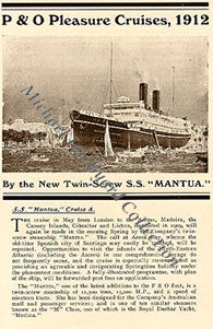 Mantua Cruise Brochure 1912