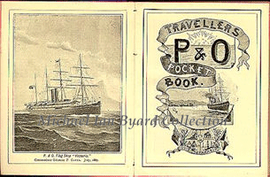 Frontpiece of P and O Passenger Information Book