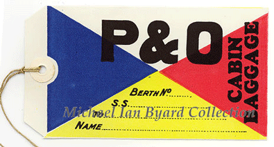 P and O Flag Label