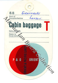 P and O Baggage Labels
