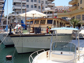 Former RAF HSL 2554 as a private motor yacht in Gibraltar 2005