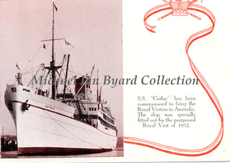 "The ""Gothic"" as the Royal Yacht, 1954"