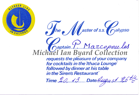 Invitation to Captainm's Table