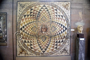 Mosaic in Corinth Museum