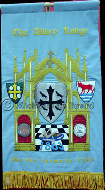 Actual finished Lodge Banner